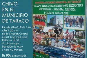 4ta. Expo – Feria Anual Internacional Productiva Agroecológica, Ganadera, Turística y Cultural Arasaya 2019