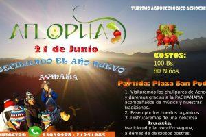AFLOPHA: recibiendo el ano nuevo Aymara (21 de junio)