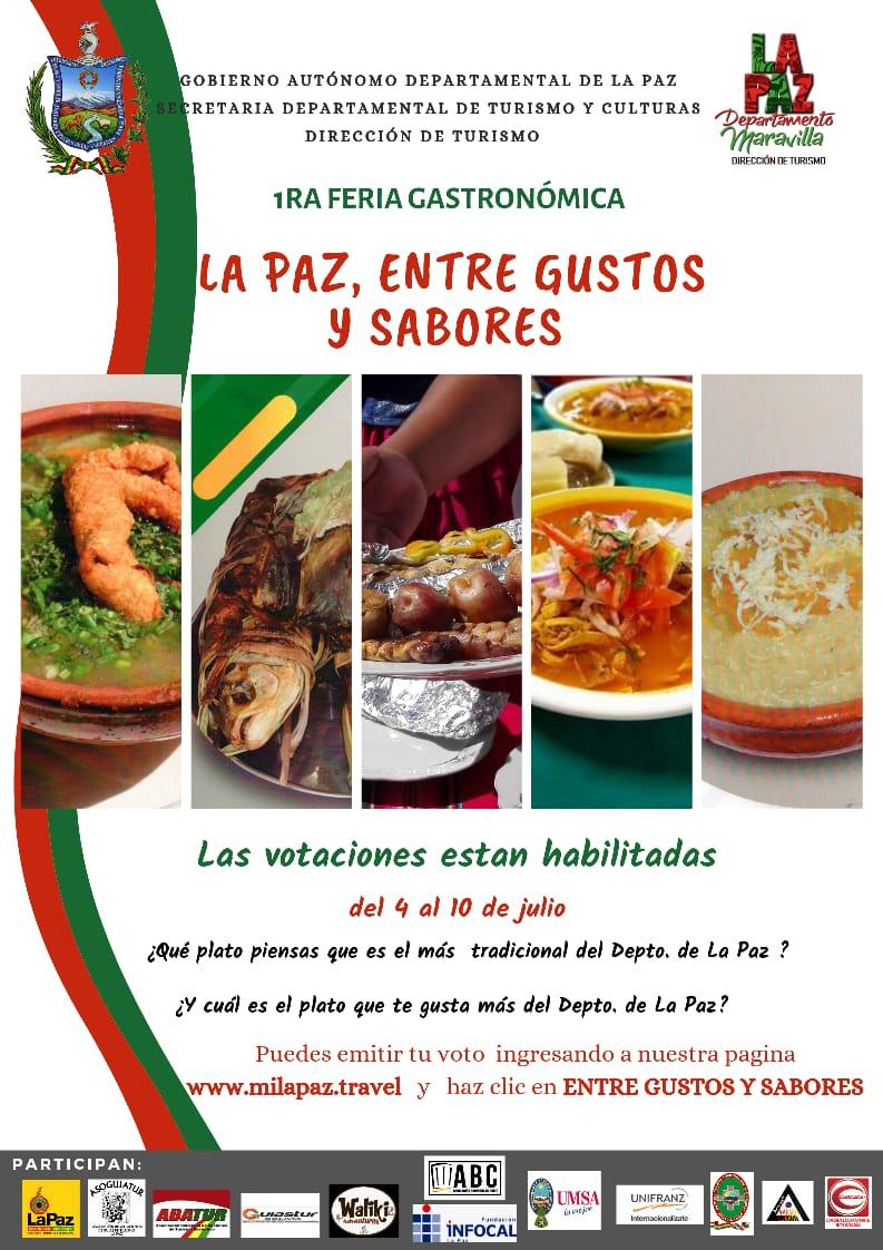Cual es tu plato paceño favorito? 1ra feria gastronómica: #LaPaz, entre gustos y sabores.