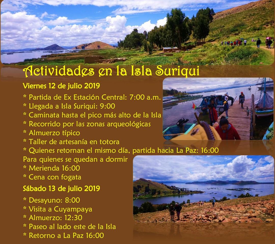 Lee más sobre el artículo Actividades en la Isla Suriqui (BO) – 12-13 de Julio