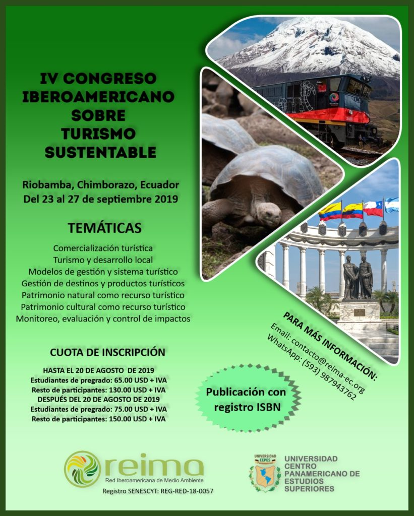 Participa al IV congreso iberoamericano sobre turismo sustentable