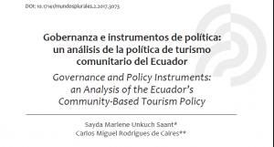 Gobernanza e instrumentos de política: un análisis de la política de turismo comunitario del Ecuador